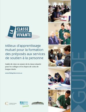 Couverture du Guide de mise en œuvre de la classe vivante